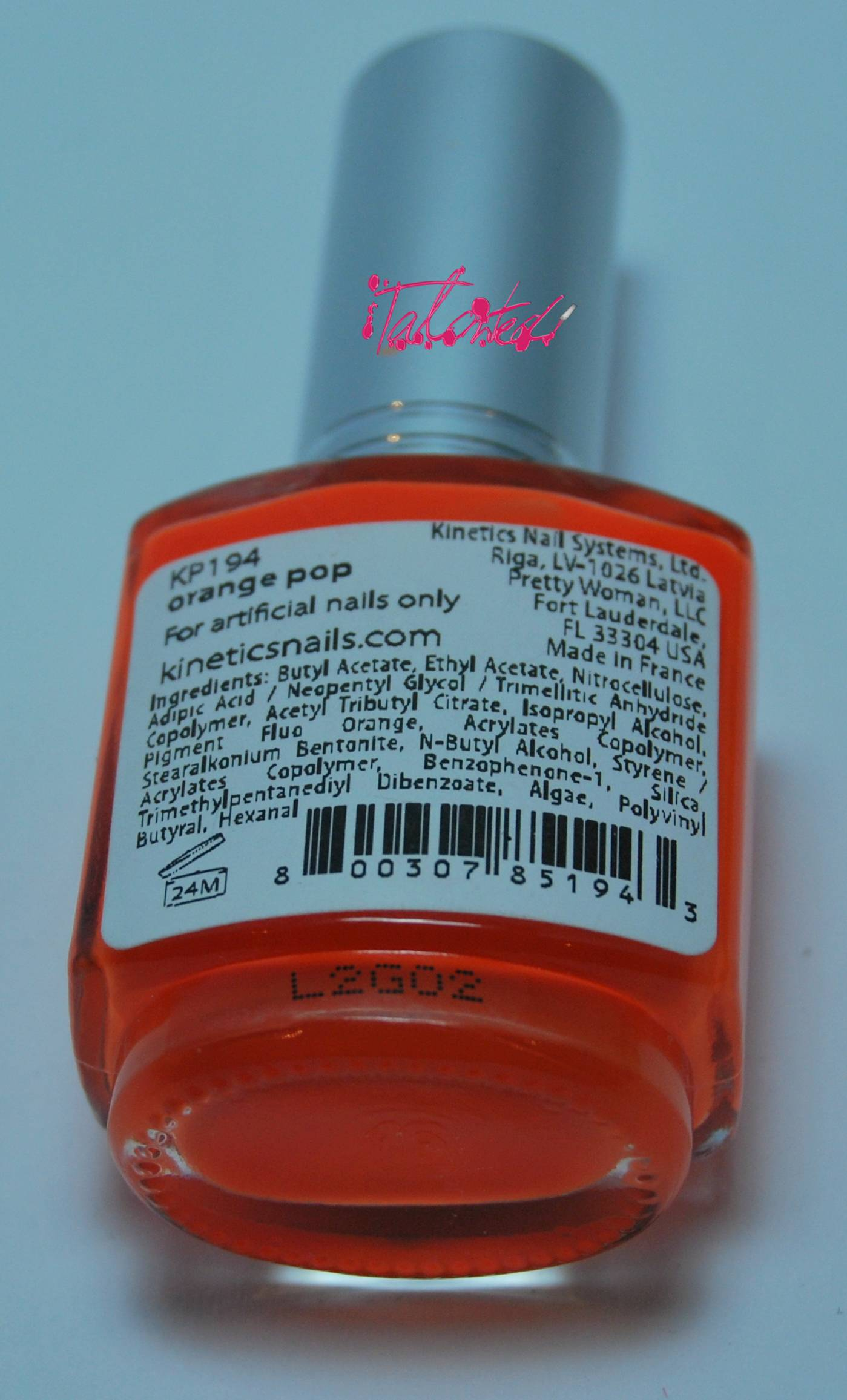 Kinetics Orange Pop Review