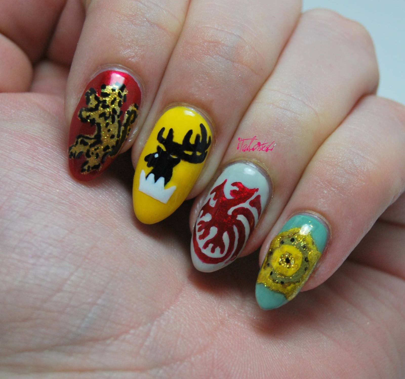 Unique Game Of Thrones Nail Polish Motif - Nail Art Design Ideas ...