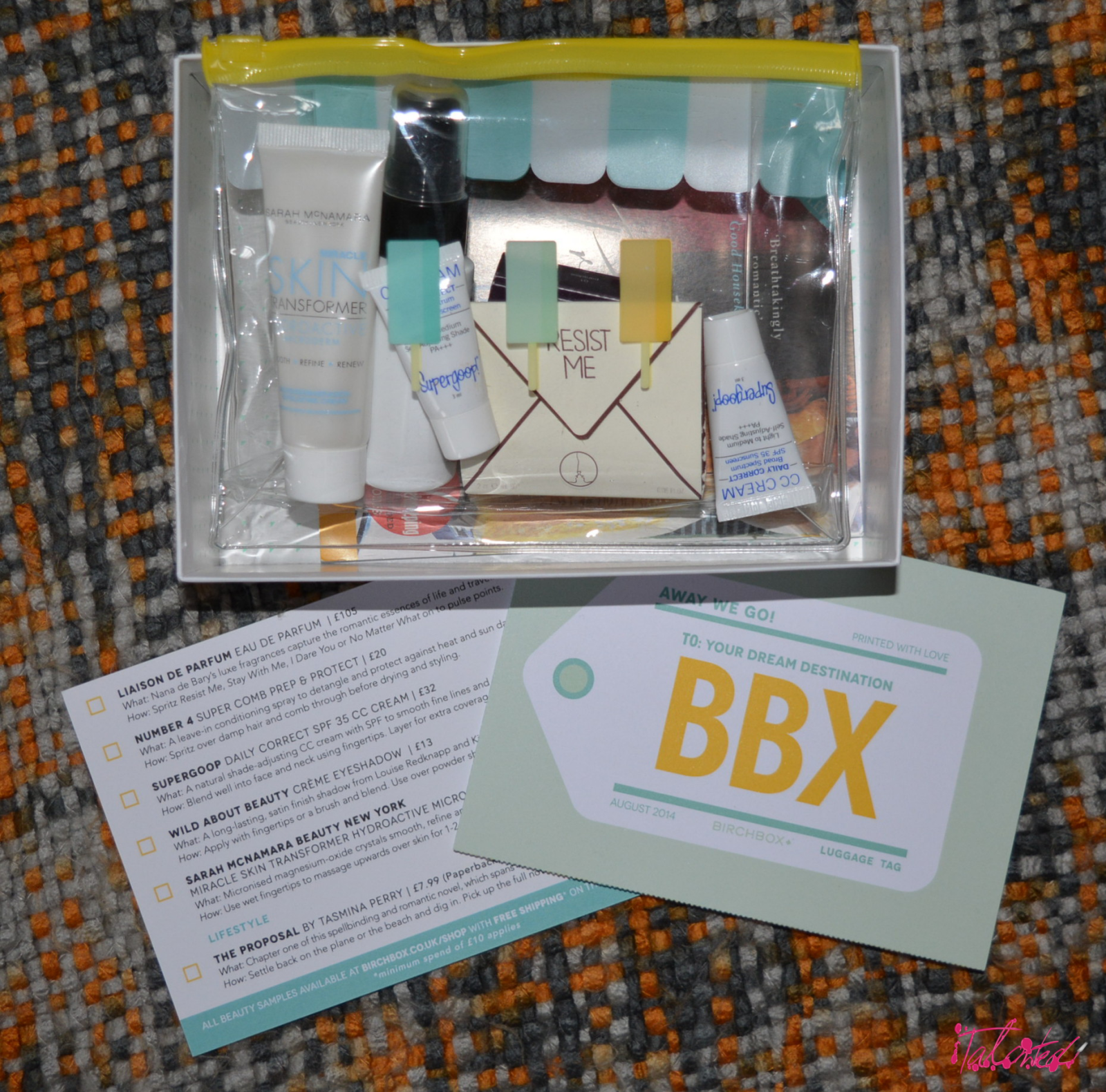 August Away We Go Birchbox