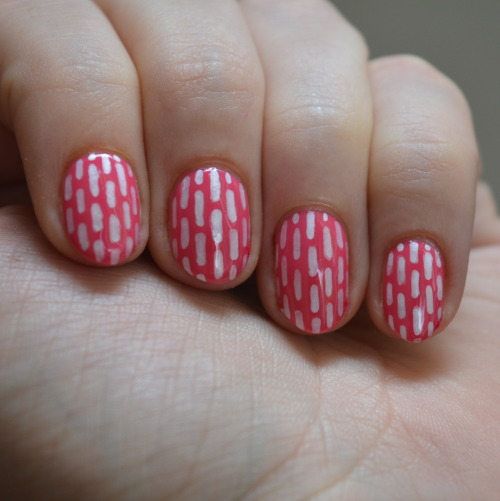 stripe nail art using Sally Hansen