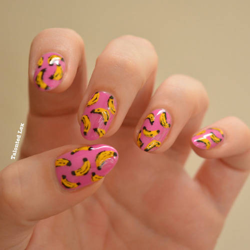 Going Bananas For Pop Art Nail Art