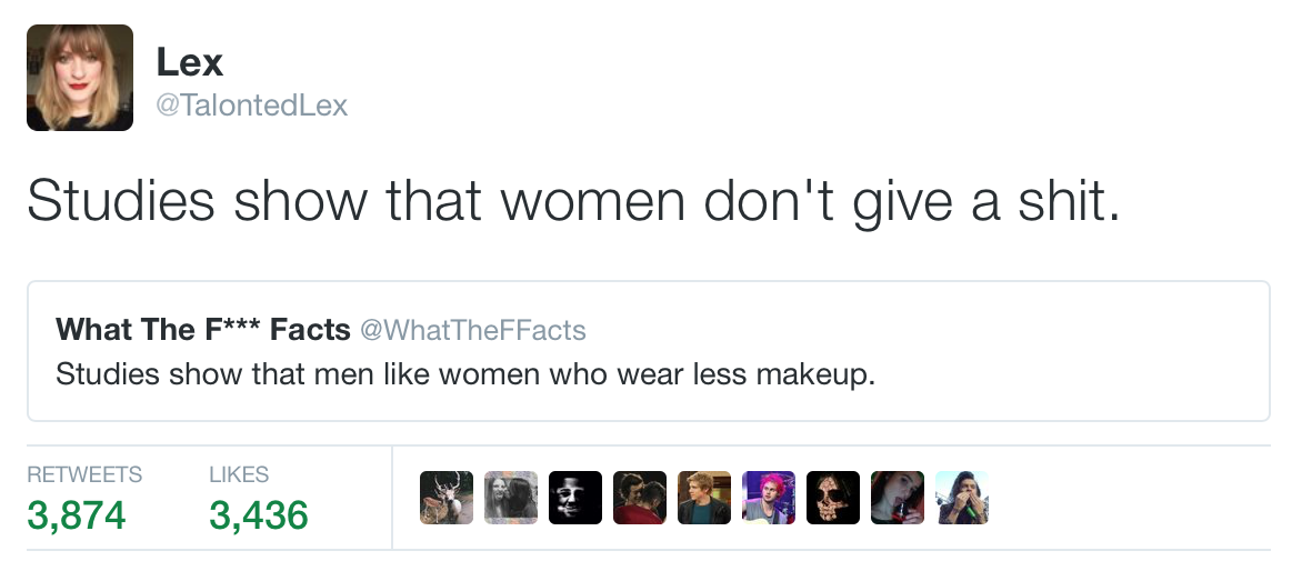 Men Like Women Who Wear Less Make Up