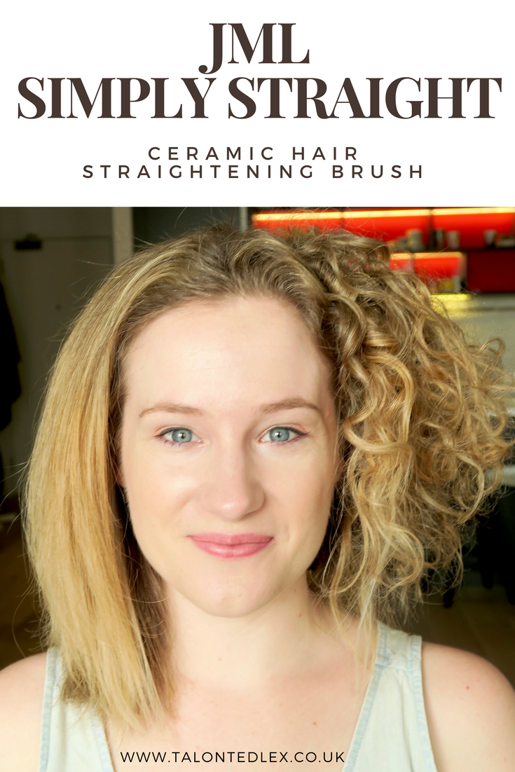 JML Simply Straight: review of the ceramic hair straightening brush, on the curliest hair I know!