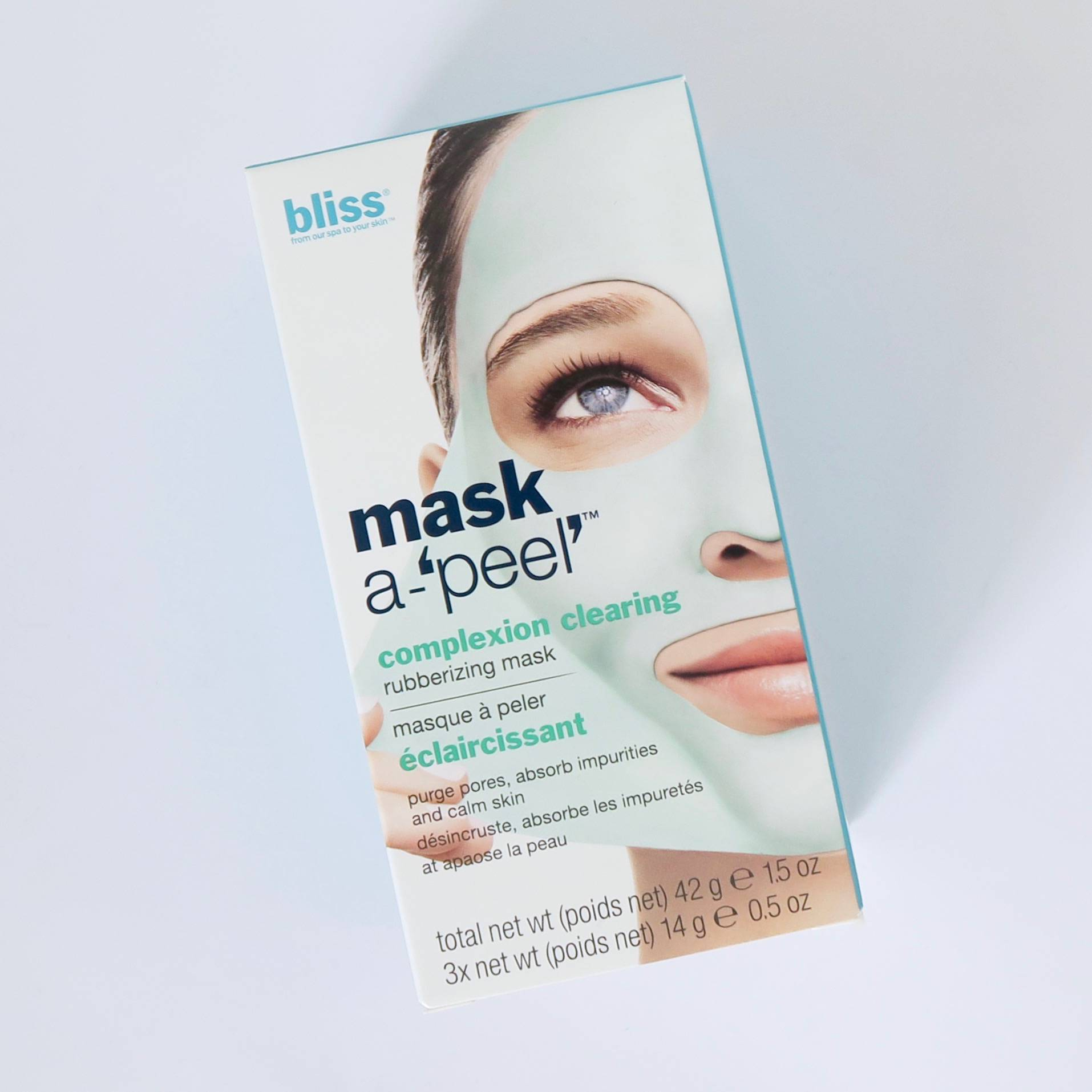 Bliss Mask-A-Peel Rubberised face mask
