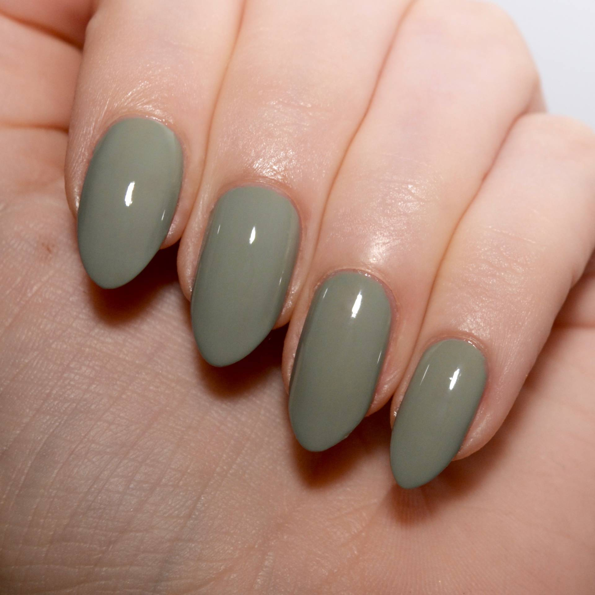 Morgan Taylor Oh Para-chute! A muted sage green polish.