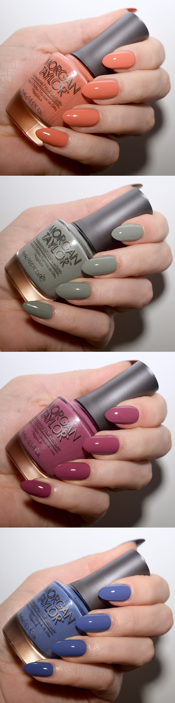Morgan Taylor polishes perfect for the muted nail trend.