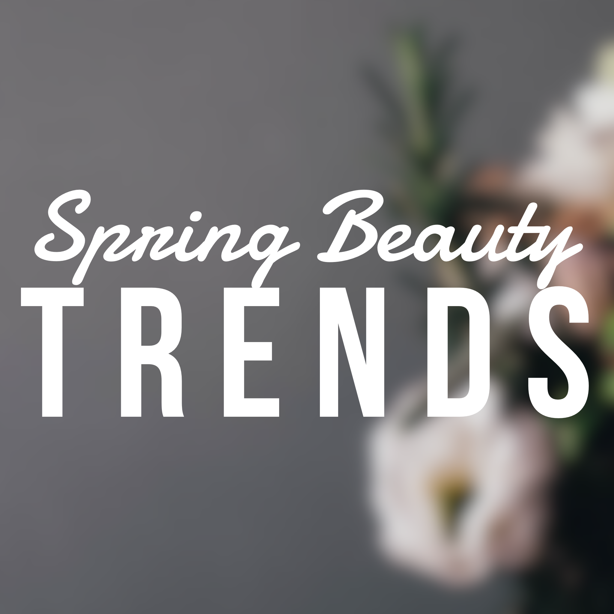 Spring Beauty Trends With Boots, including glitter lips, candy eyes, rainbow nails and summer glow...
