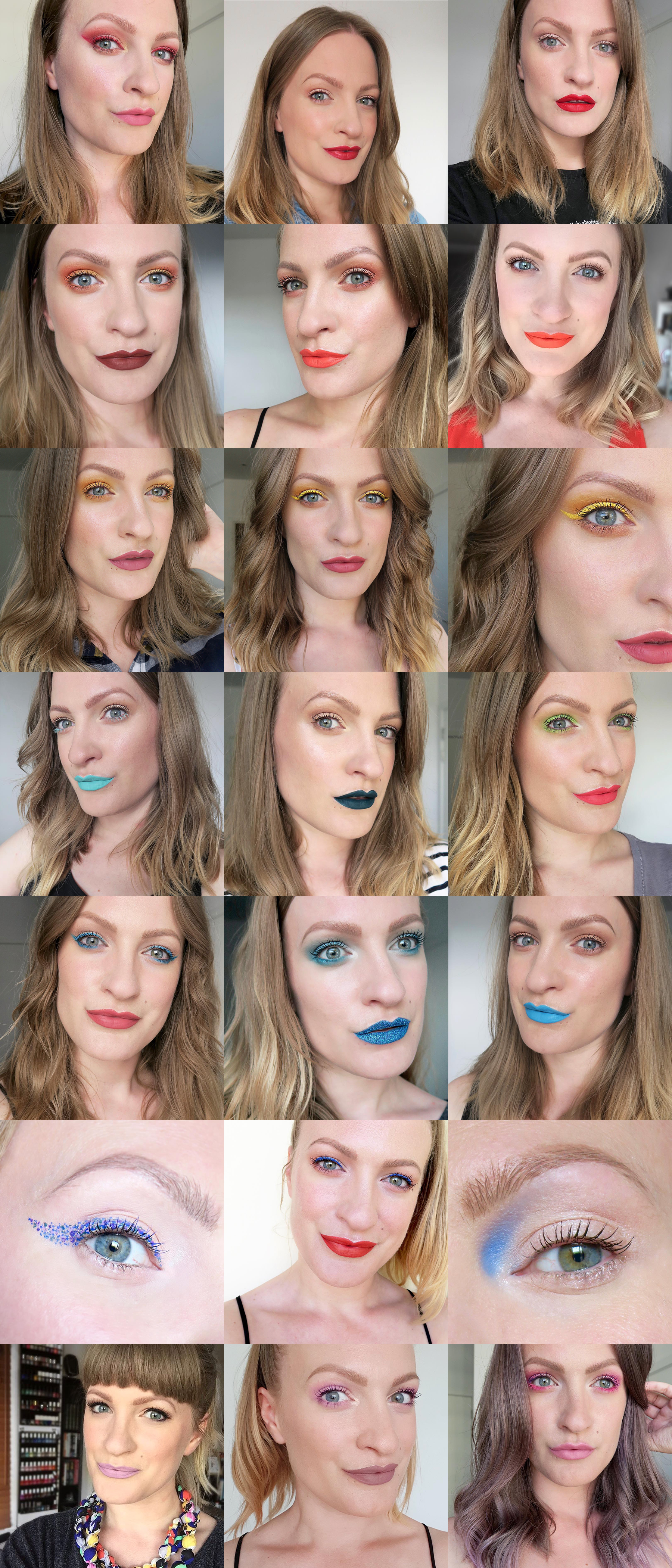 Rainbow make up looks - Talonted Lex