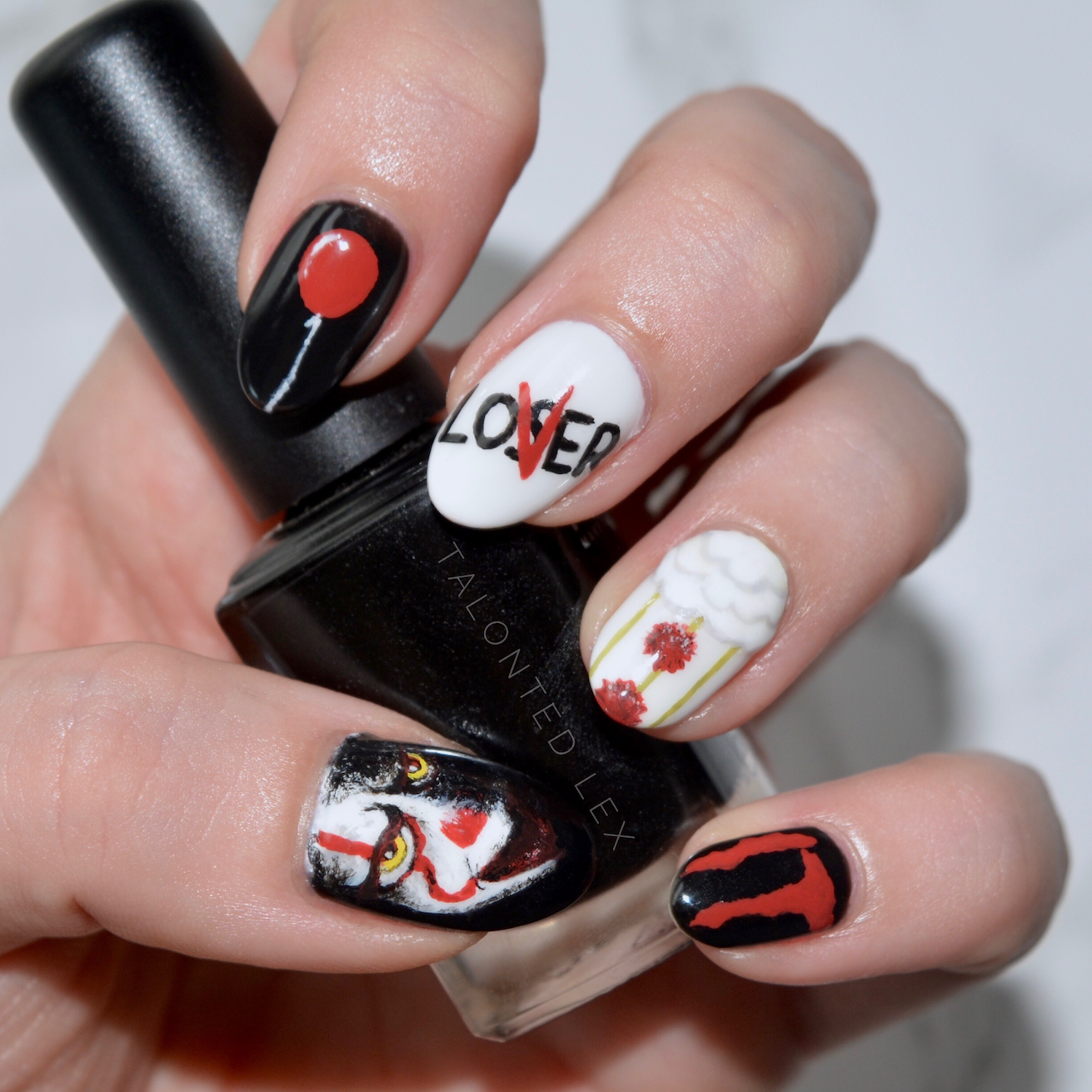 We All Float: It Nail Art (inspired by 'It' 2017 ...