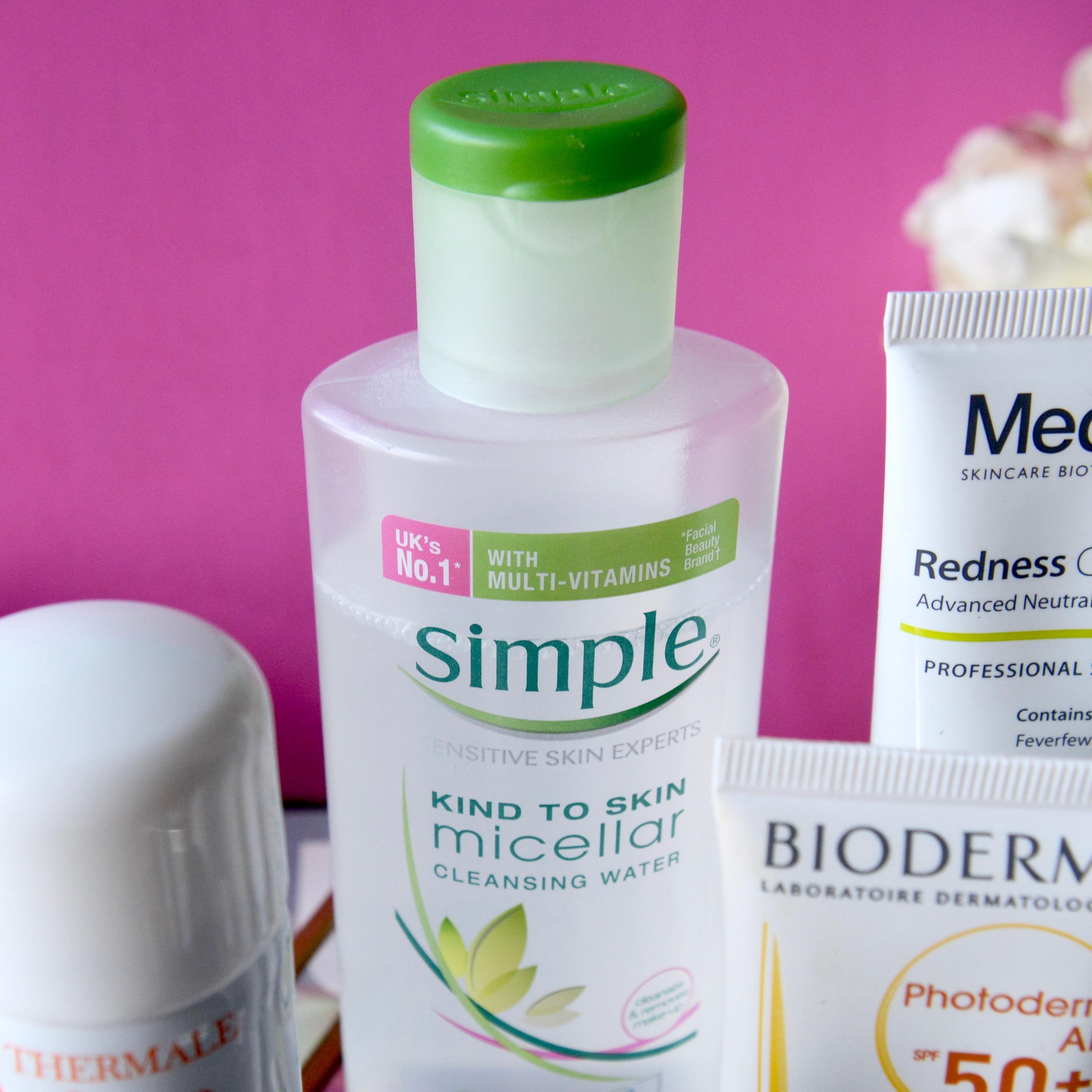 Skincare Shake Up October 2017 - Simple Micellar water (full skincare routine for sensitive/rosacea skin)