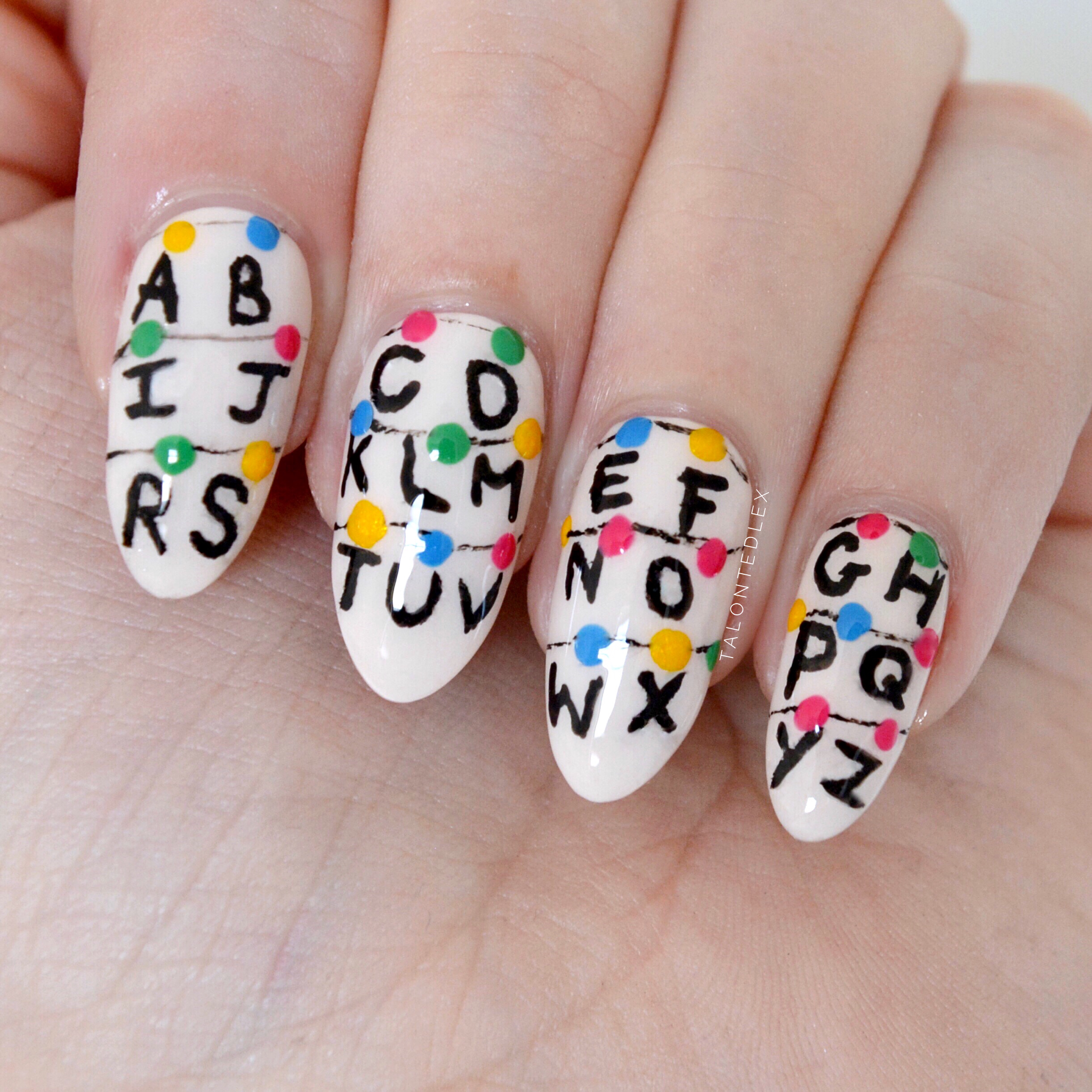 Stranger Things nail art - Talonted Lex