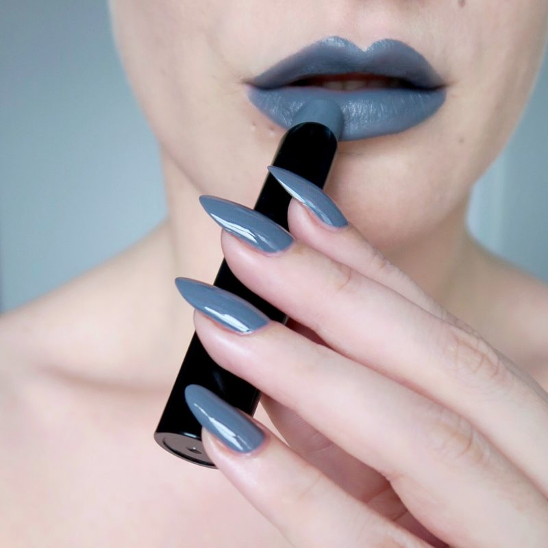 Talonted Lips And Tips challenge: matte grey