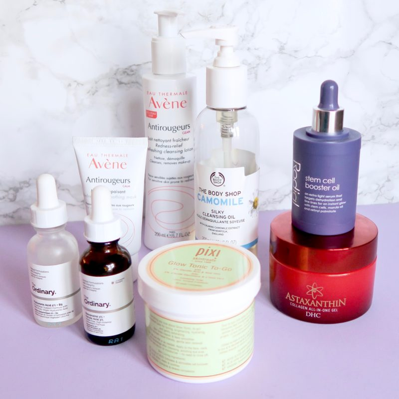 Evening skincare routine for sensitive skin, rosacea (Skincare Shake Up)