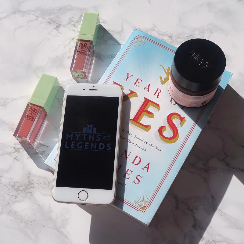 What I'm loving this week: Year Of Yes (Shonda Rhimes), Trilogy face mask, Myths & Legends podcast and Pixi MatteLast lipsticks