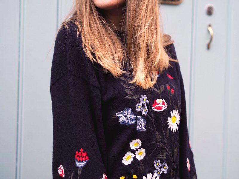 Zara Kids... not just for kids! (embroidered floral jumper)