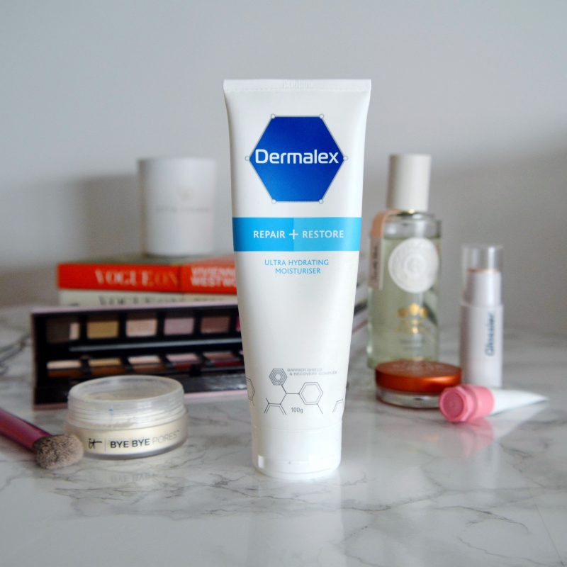 Dermalex Repair & Restore: a great body moisturiser for dry, sensitive skin. This has been helping with my keratosis pilaris, and is proven to help increase eczema-free days! Click to read the full review on my blog. #talontedlex